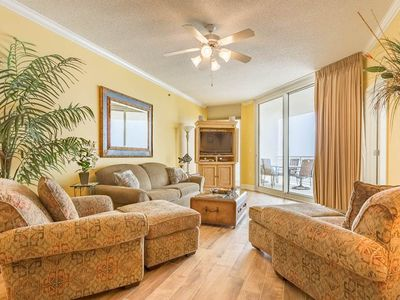 Photo for 12th Floor Gulf Front Condo w/ Beach Setup Included, Near Entertainment