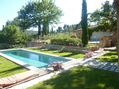 Photo for Very beautiful character house with pool in the quiet Ecrin de Verdure