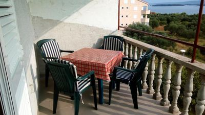 Photo for Studio flat with terrace and sea view Tkon (Pašman)
