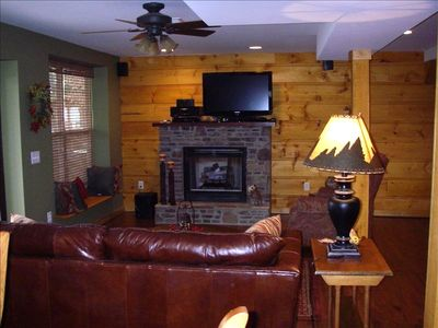Downstairs den w/gas fireplace