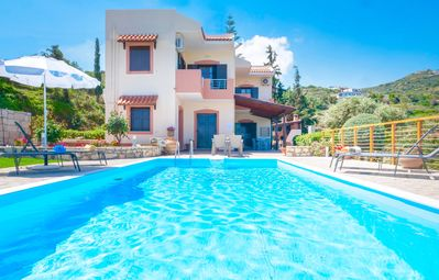 Photo for Beach Villa Lygaria with private pool and basketball court