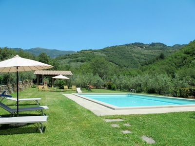 Photo for Cosy apartment in villa for 2 people with pool, WIFI, TV, balcony, pets allowed and parking