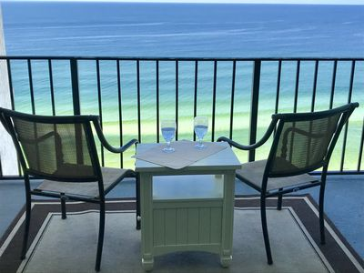 Photo for ESCAPE TO THE COAST IN STYLE ,  Beautiful W/ Lg. Balcony-Beach Service Included