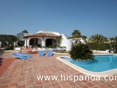 Photo for Costa Blanca villa 6 people 3 km from the beach with beautiful sea view