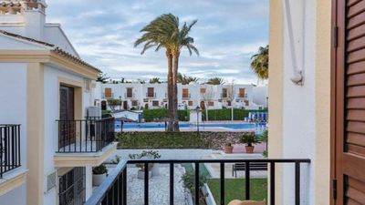 Photo for J T Beach Apartment Vera Playa, pool views, 5 minutes walk to the beach