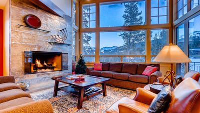 Living Room, Fireplace with View