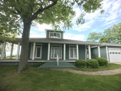 Photo for Booking 2019 Lake Michigan Beach House. Private Beach/Amazing Views.Sleeps 10-12