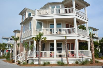 Spacious home on it's private corner, front of Seacrest Beach Subdivision
