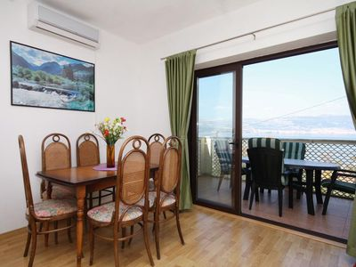 Photo for Two bedroom apartment with terrace and sea view Slatine, Čiovo (A-9453-a)