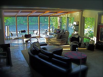 River View Great Room/Livingroom. Asian Modern Interior throughtout house...