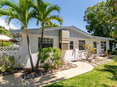 Photo for Marvelous Ground Level Duplex with a Private heated pool, short stroll to beach!
