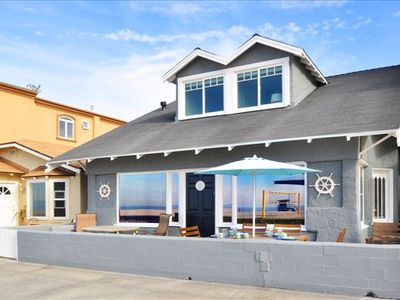 Photo for Oceanfront Cottage ON 'The Strand' -  Family Friendly