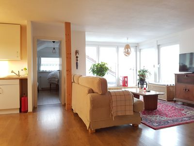 Photo for Sunny and open loft apartment with roof terrace and great views