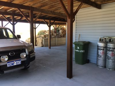 Parking under the house
