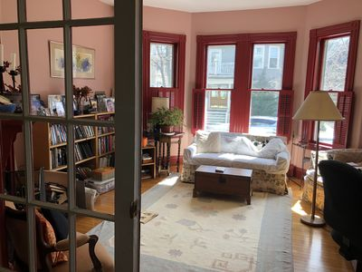 Photo for 1 bedroom condo near Harvard Square, quiet, homey, sunny, deck and gardens