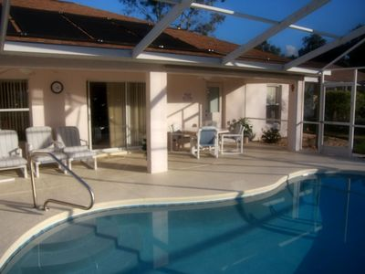 Photo for 4-bedroom villa with solar heated pool