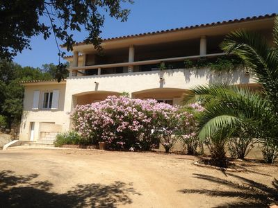 Photo for Beautiful villa with sea view, garden 200 meters from the beach