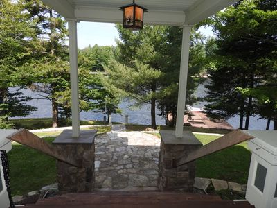 Photo for Large Old Forge Waterfront Victorian With Dock