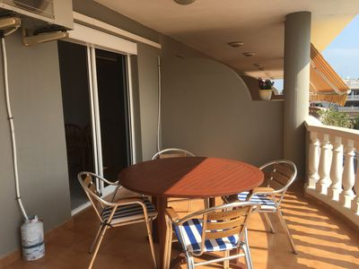 Photo for Beachfront apartment 50m from the beach