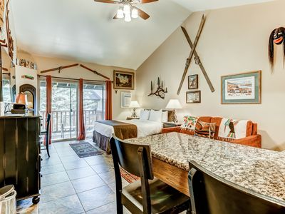 Photo for NEW LISTING! Charming studio w/ a full kitchen plus a shared pool & hot tub