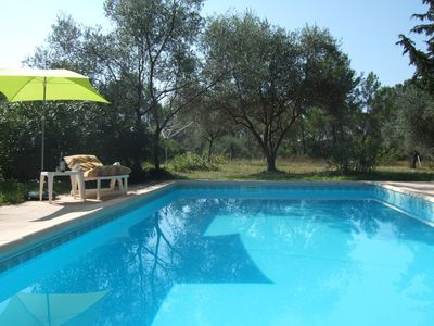 Photo for Very quiet villa  with private swimming pool on 1700 sq meter land