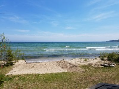 Photo for Enjoy your own lake front cabin that has a private (Soft) Sandy Beach!
