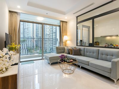 Photo for Modern - Stylish- 3 Bedroom Luxury Apartment w Free Gym at Landmark 5 Vinhomes