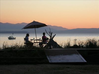 Photo for Maxwelton Beach Waterfront: Sunsets and Olympic Mountain views