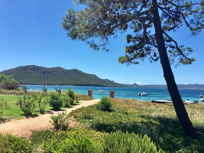 Photo for Villa, beachfront, walk in 2 minutes, Benedettu, PORTO VECCHIO