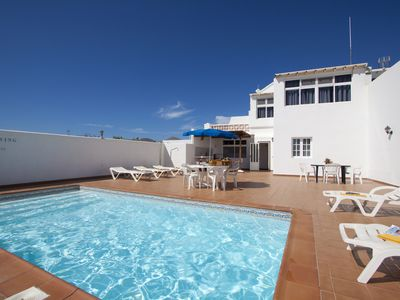 Photo for Villa Mar is  4 bedroom with Private  Pool 300m from beach, Playa Pocillos