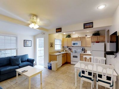 Photo for Dog-friendly condo w/ porch & Old Town location - walk to beaches & restaurants!
