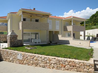 Photo for New cozy Vila with great heated Pool and Stone barbeque