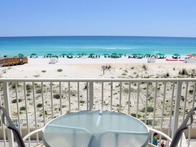 Photo for Gulf Dunes 205: Lively, fun-filled Gulf Front condo with beach service, golf