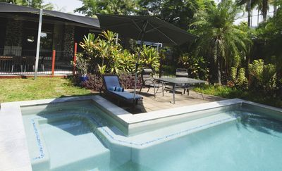 Photo for Tropical House with Pool,  Sleeps 8, Private Studio, BBQ Dinning,