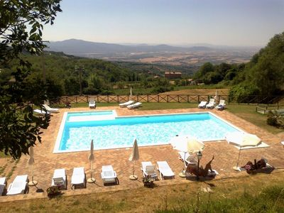 Photo for Apartment with Pool in the heart of the Tuscan Maremma - Private veranda