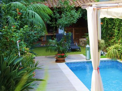 Photo for Beatifull renovated duplex with garden and pool