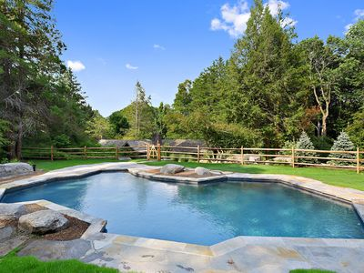 Photo for NEW HOT TUB, charm and character plus a seasonal  heated gunite pool