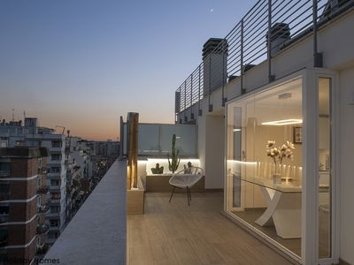 Photo for Penthouse with panoramic rooftop and an amazing view - Rome Holiday Homes