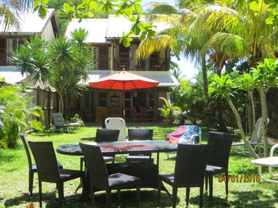 Photo for Homely beachfront villa with beautiful sandy beach and safe swimming.