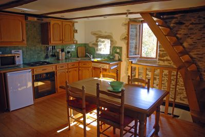 La Maison du Four fully equipped kitchen and south facing views