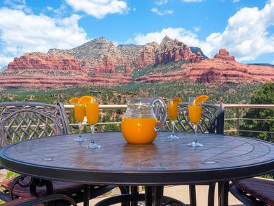 Photo for Majestic Sedona Hot Tub-Mountain Red Rock Views-Luxury-Private- Walk to Town