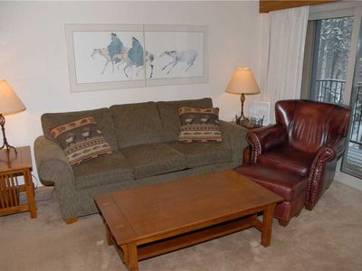 Photo for Mountain Lodge Feel, Two Bedroom Winter Park Condo at the Beaver Village Condos Complex in Town