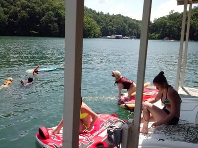 Photo for Norris Lake Front Cottage With A Private Covered Boat Slip And Swim Platform.