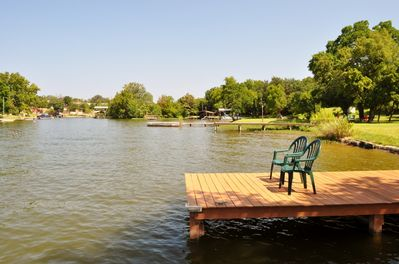 Fish, swim, and kayak right off the dock!