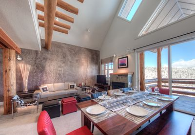 View of Dining and Living Room. Direct views of the Spanish Peaks.