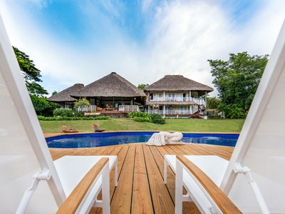 Photo for Dazzling Thatched Roof Villa with Pool, Full Staff, AC, Free Wifi, Concierge Services, Near Tennis