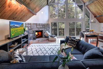 living room, is open and bright and offers an unobstructed view