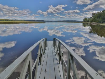 Photo for Bayfront home w/ gorgeous water views, shared dock & outdoor patio!
