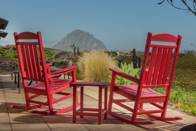 Enjoy this amazing view of Morro Rock, easy beach access, and more!!