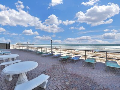 Photo for NEW LISTING! Oceanfront studio with private balcony, ocean view, and shared pool